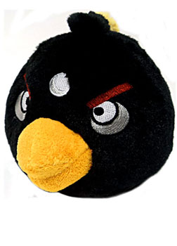 ToyDorks - Commonwealth Toys - Angry Birds - 5-Inch Black Bird