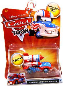 Toydorks Mattel Toys Cars Toon Daredevil Lightning Mcqueen