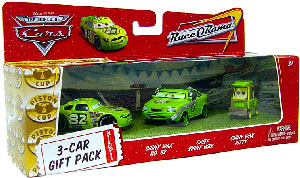 World Of Cars - 3-Car Gift Pack Boxed - Shiny Wax, Chief Shiny Wax, Shiny Wax Pitty