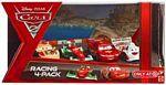 Cars 2 Movie - Racing 4-Pack - Lightning McQueen, Francesco Bernoulli, Shu Todoroki, Miguel Camino