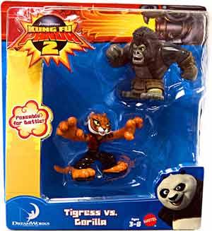 Toydorks Mattel Toys Kung Fu Panda 2 2 Pack Tigress Vs Gorilla