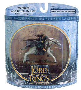 LOTR 3-inch: Arwen and Frodo on Horseback