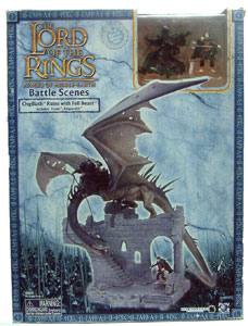 LOTR 3-inch:  OSGILIATH RUINS  with Fell Beast