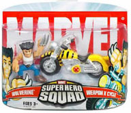 Super Hero Squad - Wolverine with Weapon X Cycle