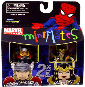 Marvel Minimates - Thor Reborn and Lady Loki