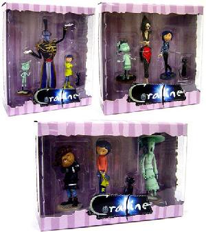 Toydorks Neca Toys 3 Inch Coraline Pvc Set Of 3 Other Mother Mr Bobinsky The Ghost Kids Wybie