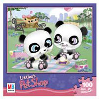 LITTLEST PET SHOP Puzzles 100 pieces - Twin Pandas
