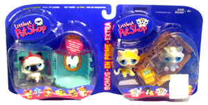 Littlest Pet Shop - Turquoise Vanity Kitty and Kittens for Sale