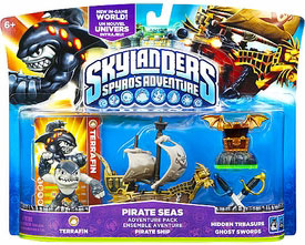 Skylanders - Pirate Seas - Terrafin, Pirate Ship, Hidden Treasure, Ghost Swords