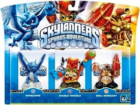 Skylanders - 3-Pack Whirlwind, Double Trouble, Drill Sergeant