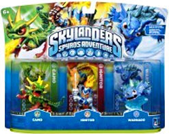 Skylanders - 3-Pack Camo, Ignitor, Warnado