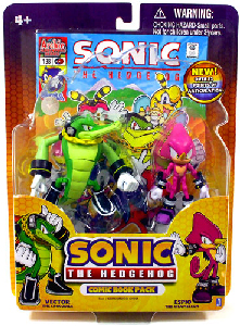 Toydorks Jazwares 3 Inch Sonic The Hedgehog 2 Pack Vector And Espio
