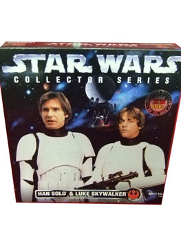 12 Inch Collectors Series Han Solo and Luke Skywalker as Stormtroopers