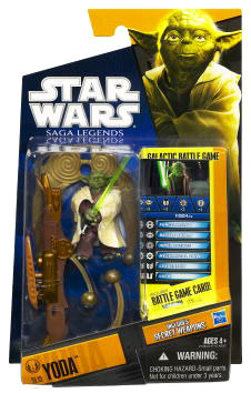 Clone Wars 2010 Black Orange Packaging - Saga Legends - Yoda