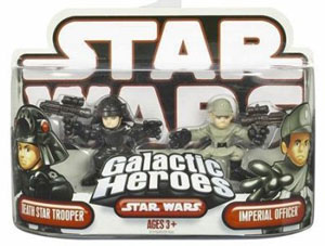 Galactic Heroes - Death Star Trooper and Imperial Officer RED BACK