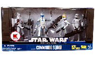 Clone Commando Squad - Exclusive[Clone Trooper with Space Gear, Captain Rex, Clone Pilot, ARF Trooper]