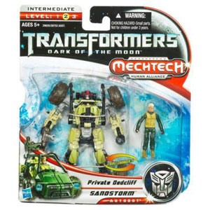 Transformers 3 Movie Basic Class - Autobot Sandstorm and Private Dedcliff